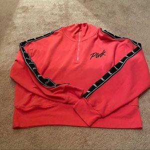 Pink Cropped Quarterzip